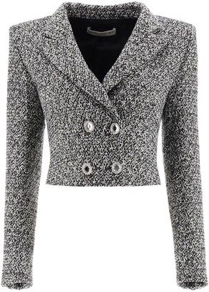 Alessandra Rich Tweed Cropped Blazer