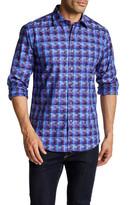 Bugatchi Multicolor Long Sleeve Shaped Fit Shirt