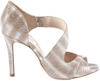 LK Bennett \N Gold Leather Sandals