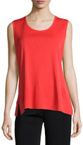Misook Scoop-Neck Knit Tank, Orange