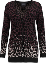 Lanvin Leopard-intarsia cardigan