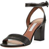 Tabitha Simmons Leticia Leather Ankle-Wrap Sandal