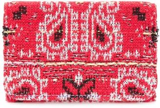 Coohem knit tweed bandana cardholder