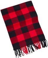 XY Fancy Men Classic Super Soft Cashmere Feel Winter Warm Tartan Checked Plaid Fringe Scarf Black Red Plaid