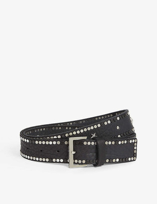 Zadig & Voltaire Starlight studded leather belt
