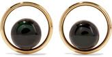 Marni Gold-tone, Resin And Horn Earrings - Emerald