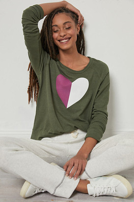 Sundry Heart Pullover By in Green Size XS