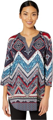 Tribal Women's Blouse Shirt Top Sleeve Stretch Feminine