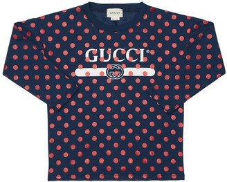 Gucci Pois Printed Cotton Jersey T-shirt