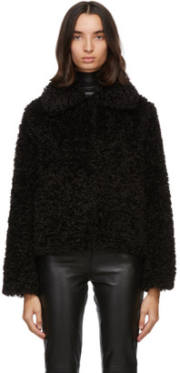 Stand Studio Black Sherpa Marcella Jacket