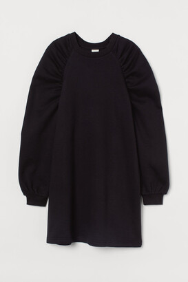 H&M Sweatshirt Dress - Black