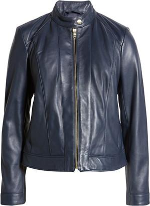 Cole Haan Lambskin Leather Jacket