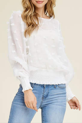 Solution Sheer Textured Blouse