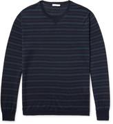 Boglioli - Striped Virgin Wool And Silk-blend Sweater