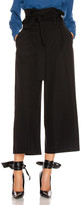 Stella McCartney Maggie Light Wool Tie Tailored Pant in Black | FWRD