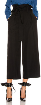 Stella McCartney Maggie Light Wool Tie Tailored Pant in Black | FWRD