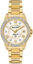 Bulova Women's Marine Star Diamond Accent Gold-Tone Stainless Steel Bracelet Watch 32mm 98R235