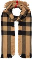 Burberry Oversized Wool Check Scarf