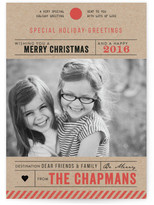 Minted Destination Luggage Tag Christmas Photo Cards