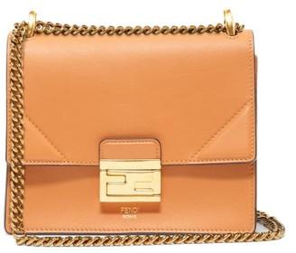 Fendi Kan U Mini Leather Cross-body Bag - Womens - Tan