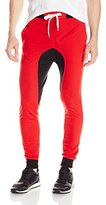 Southpole Men's Jogger Pants Basic French Terry with Drop Crotch