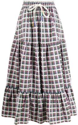 Mira Mikati Star Check skirt