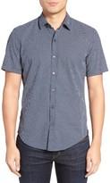 BOSS Men's Robb Sharp Fit Dot Print Shirt