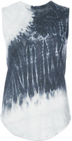 Raquel Allegra tie-dye detail tank top - women - Cotton/Polyester - 0