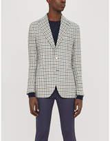 STENSTROMS Checked single-breasted regular-fit linen blazer