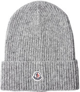 Moncler Ribbed Beanie with Wool and Alpaca
