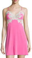 Natori Enchant Lace-Trimmed Chemise, Tropical Pink