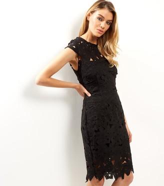 New Look AX Paris Crochet Lace Cap Sleeve Midi Dress