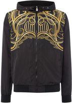 Versace Jeans Zip Through Lightweight Printed Hoodied Jacket