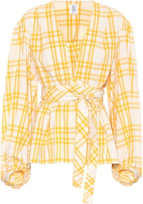 Rosie Assoulin The Ties That Bind Us plaid top
