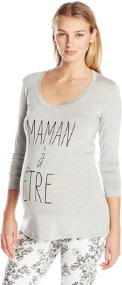 Lilac Maternity Women's Maternity Frenchie Tee-Mom to Be