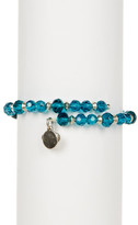 Alex and Ani Enigma Beaded Wrap Bracelet - Cerulean