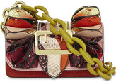 Burberry Metallic watersnake buckle bag