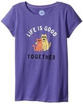 Life is Good Together Hug CrusherTM Tee (Little Kids/Big Kids)