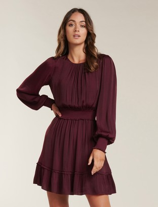 Forever New Jessica Long-Sleeved Smock Dress - Shiraz - 10