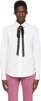 Marc Jacobs White Tie and Pin Shirt