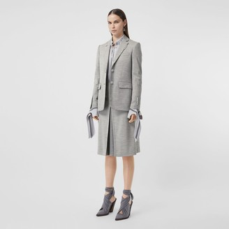 Burberry Technical Wool Jersey Blazer