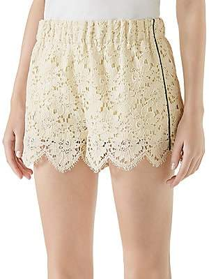 Gucci Women's Flower Lace Shorts