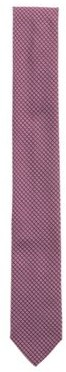 HUGO BOSS Silk Blend Tie With Jacquard Woven Pattern - Pink