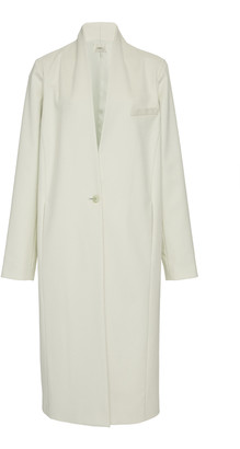 LAPOINTE Brushed Wool High Neck Single Breasted Coat
