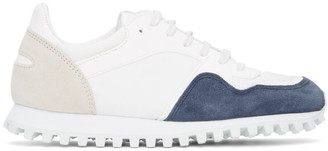 Spalwart Blue and Beige Marathon Trail Low Sneakers