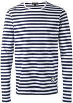 Burberry striped long sleeve T-shirt - men - Cotton - M