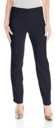 Briggs New York Women's Super Stretch Millennium Pull On Straight Leg Pant