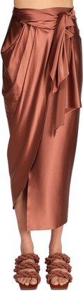 Johanna Ortiz Stretch Silk Blend Midi Skirt