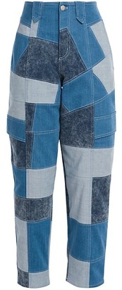Stella McCartney Patchwork Shades Safari Pants