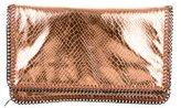Stella McCartney Metallic Falabella Fold-Over Clutch